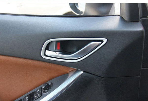 Chrome Inside Door Handle Trim Strisce Telaio per MAZDA CX-5 CX5 2012 2013 Manopola per porta Modanature interne 4 pz / lotto Car Styling