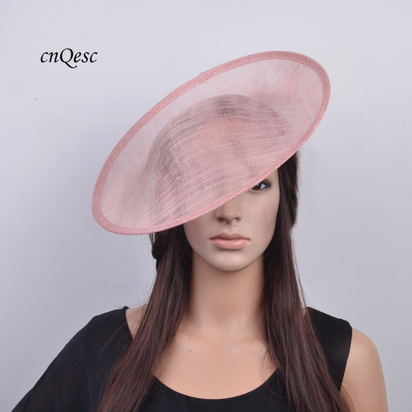 best selling Blush pink High quality sinamay binding large saucer sinamay base fascinator hat craft supply,for derby,Races,Party,wedding,diameter 33cm.