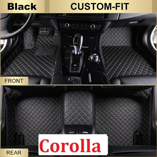 SCOT All Weather Leather Car Floor Mats for Toyota Corolla Waterproof Anti-slip 3D Front & Rear Carpets Custom-Fit Right-Hand-Driver-Model