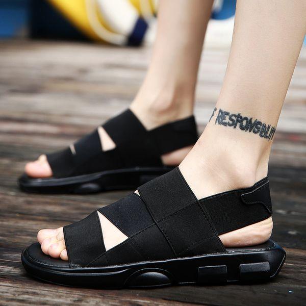 aa5d8b43672e1 Men s Sandals 2017 Summer High Quality New Men s Beach Walking Casual Shoes  Korean Trend Roman Slippers