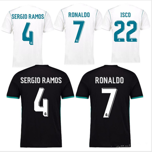 Top Quality 2017 2018 Real Madrid Home Blanco Jersey De Fútbol 17 18 ...
