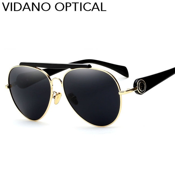Vidano Optische 2017 Neue Ankunft Mode Smart Pilot Sonnenbrille Für Männer Frauen Luxus Modernes Design Sonnenbrille Stilvolle Brillen UV400