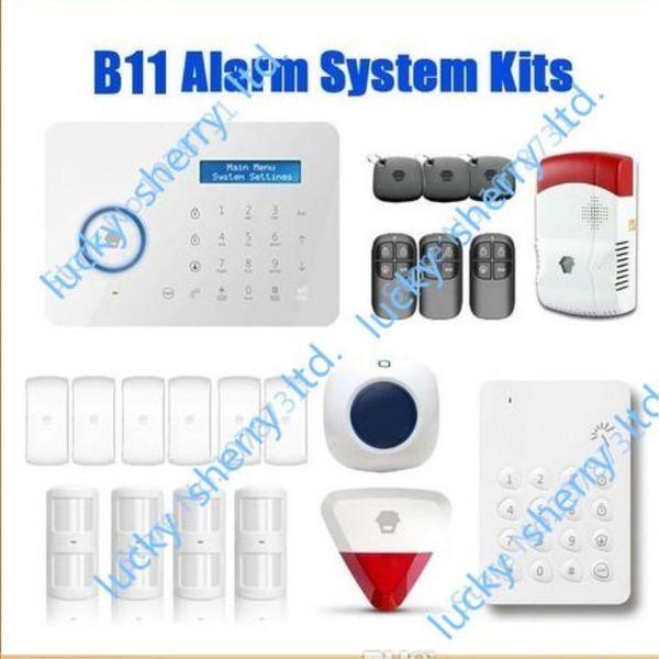 Chuango B11 Wireless Touch Keypad GSM Phone SMS SIM CARD / PSTN Home Security Burglar Alarm System WS280 Delivery Time 5-7days