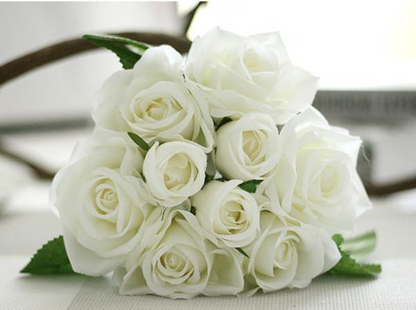 Свадебный Букет Свадебные Цветы Поддельные Шелковая Роза Искусственный День Рождения Пром Свадьба Украшения Дома Невесты Букет Невесты Цветы
