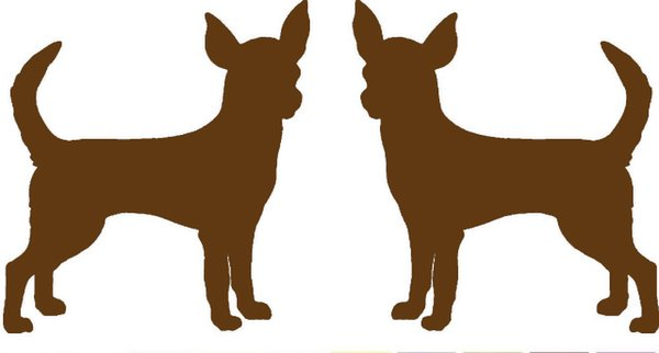 Wholesale 20pcs/lot 2 Chihuahua Dog Breed Jdm Vinyl Decal Car Window Glass Windshield SUV Door Bumper Auto Parts Scratches Motorcycles Wall