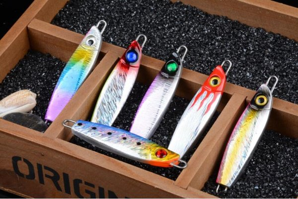 Superior Simulated 3D Eyes Lead Fish Baits 6PCS Jigs Fishing Lure 8cm 40g Metal Baits Diving Jig for Saltwater