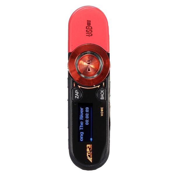 8GB USB Disk Pen Drive USB LCD MP3 Player Recorder FM Radio mini SD / TF, Red/Green/Pink