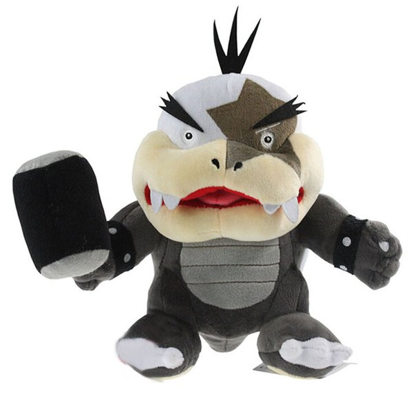 New Super Mario Bros Morton Koopa with Hammer Big Mouth Bowser Koopalings Stuffed Plush Doll Kid Toy Christmas Approx 21cm