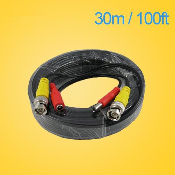 LLLOFAM 100FT CCTV cable 30m BNC Video Power coaxial Cable bnc video output cable for cctv Security Camera dvr surveillance system