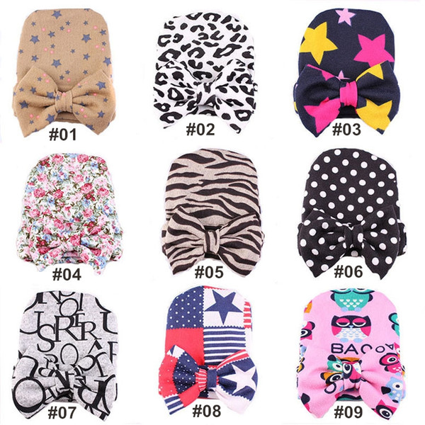 Toddler winter hats 0-6 Month Newborn baby hats 9 designs Kids Knitted hats wholesale baby beanie LA524-2