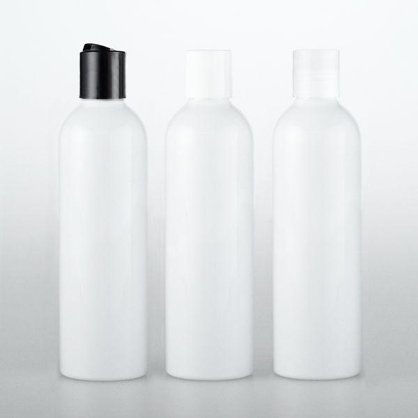 50pcs 120ml Disc Screw Cap Cosmetics Bottle, Plastic Container,white Empty Liquid Soap Shampoo Bottles 4 OZ white Bottle