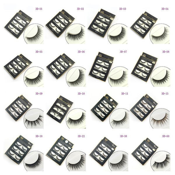 best selling 3D False eyelashes 16 Styles Handmade Beauty Thick Long Soft lashes Fake Eye Lashes Eyelash Sexy 3001078
