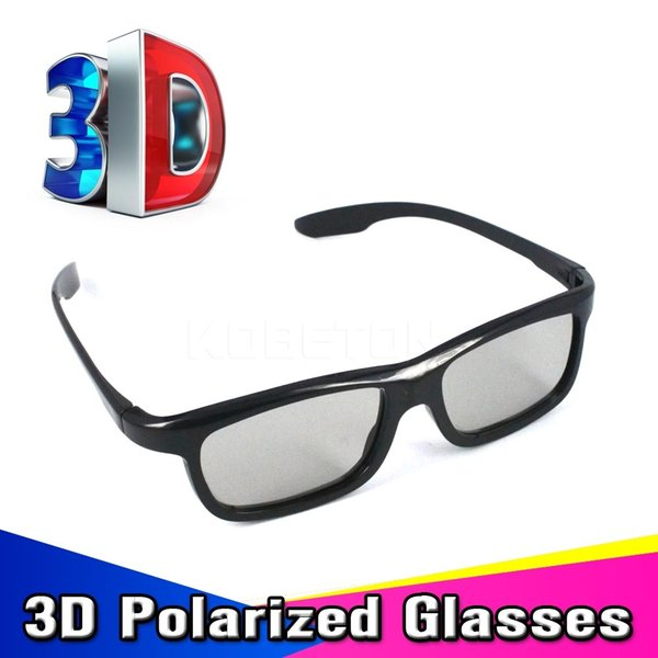 Wholesale- 3pcs/lot Light Weight Passive Polarized 3D Sunglasses Glasses for LG for Sony for Samsung Dimensional Anaglyph Movie DVD TV