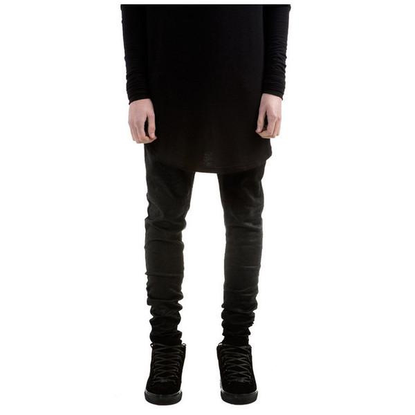 Wholesale-New Men Spring Jeans Fashion Slim Tight Black Jeans Denim Skinny Pants Feet Pencil Pants Slim Men Fashion Tights 01Z666