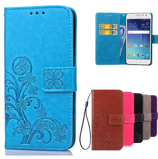 Luxury For Coque Samsung Galaxy Grand Prime Case G530 S3 S4 S5 S6 S7 Edge Plus Wallet Case Flip Cover With Card Slots Holder OPP Bag