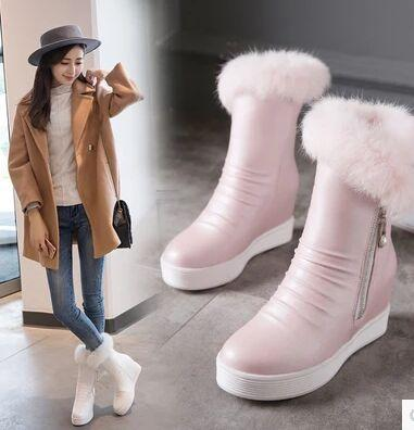 Wholesale New Arrival Hot Sale Specials Super Influx Martin Snow Warm Winter Students Knight Side Zip Large Size Sweety Ankle Boots EU34-43
