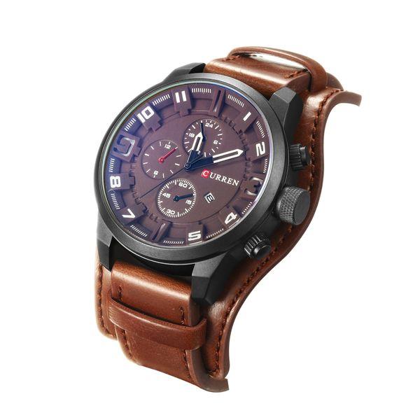 Relogio Masculino Curren 8225 Mens Watches Top Brand Luxury Men's Sport Quartz Watch Leather Casual Sport Men Clock Wristwatches