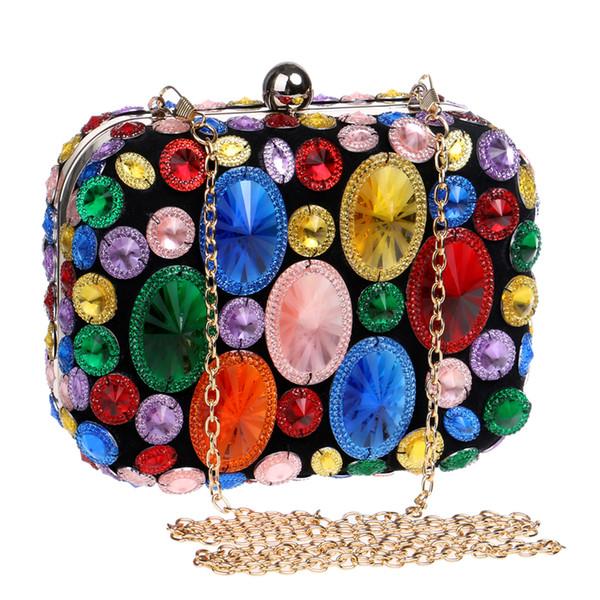 CALIENTE bolsos de cuentas de acrílico de colores bolsos de noche monedero del embrague bolsos de noche para la boda / cena / fiesta totalizador