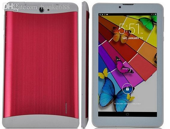 """wholesale - 10X DHL 7"""" 7 inch 3G Phone Call Tablet PC MTK6572 Dual Core Android 4.4 Bluetooth Wifi 4G Dual Camera SIM Card GPS"""
