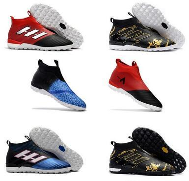 2017 Fishion Laceless ACE 17+ PureControl FG Dragon Soccer Shoes 17.1 indoor Football boots ACE Tango 17+ Purecontrol TF IN Soccer Cleats