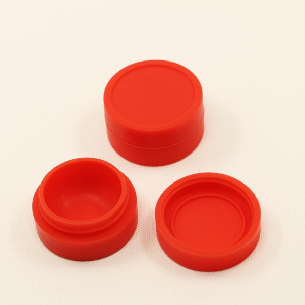 2017 silicone essential oil container 7ml clear silicone dab container jars for wax oil bho dry herb vaporizer tool