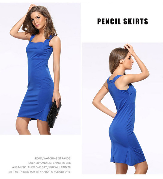 Elegant women strap dress charming lady mermaid skirts bodycon ruffle hem pencil dresses in square neck OL-8681