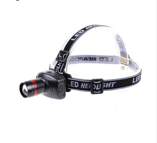 3 Modes Mini Waterproof Headlamp Zoomable Headlight for Outdoor Camping Hunting Riding