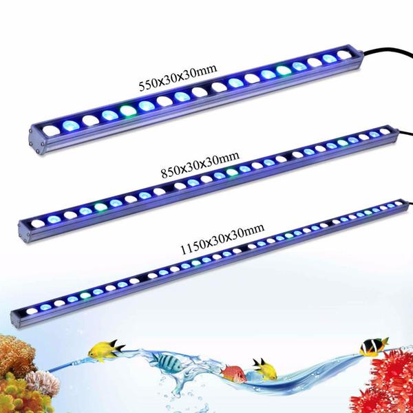 Heißes 54w / 81w / 108w imprägniern LED-Aquariumlichtstreifen weißes blaues UV für das Riffkorallen-Fischbecken, das IP65 Aquariumbarlampe beleuchtet