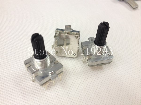 Wholesale- [BELLA]EC16 -quality audio encoder 360 degree rotary encoder switch pulse potentiometer 20 floral axis axle Spot--50pcs/lot