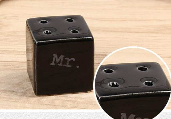 Cube Cylinder Ceramic Mr. Mrs. Salz- und Pfefferstreuer Kitchen Tools Party Favors Wedding Favor Gift