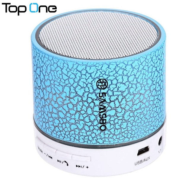 Wholesale- SAMSBO A9 Wireless Bluetooth Speaker Mini Column Support Music FM Radio Micro SD Card Built-in Microphone for Mobile Phone PC