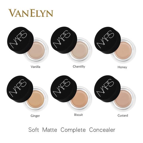 Dropshipping 2017 Nouvel arrivage mat doux au complet Correcteur 6.2g 6 couleurs Radiant Crème Visage Anti-cernes cosmétiques Fondation Livraison gratuite