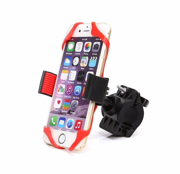 "Bike Mount Phone Holder 360-degree rotation Handlebar Phone Mount Fits Smartphones Android Up to 4"" Wide"