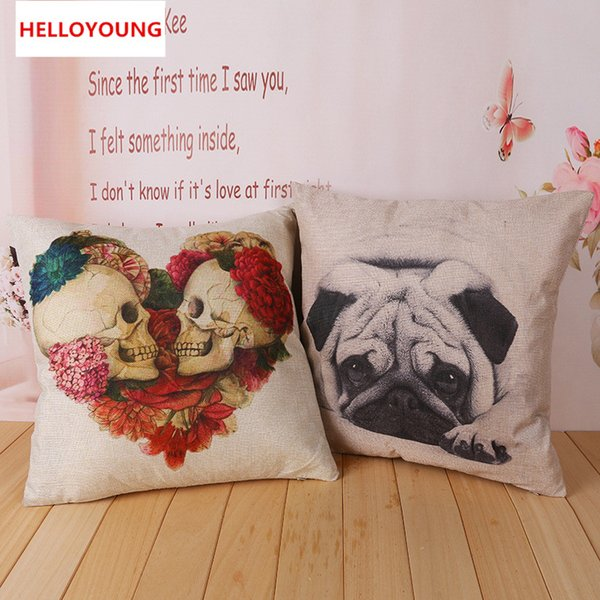 BZ012 Luxury Cushion Cover Pillow Home Textiles Skull cushion cover decorative pillows chair seat