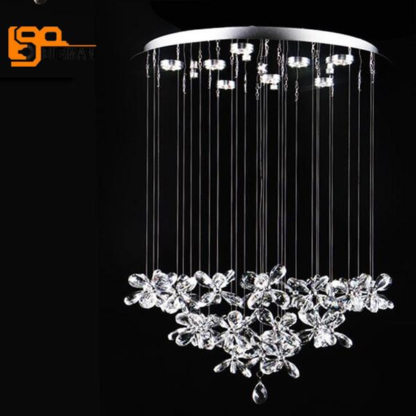 Schönes Design Moderne Kristall Kronleuchter Beleuchtung LED Lampe Dia60 *  H80cm Glanz Wohnzimmer Kronleuchter Licht