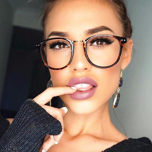 Atacado-rebite mulheres óculos ópticos quadro designer de armações de óculos mulheres óculos transparentes Classic Retro Clear Lens Nerd Frames oculos