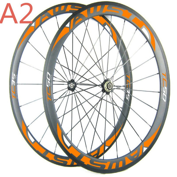 Free shipping china road bike wheels front 38mm rear 50mm cheap bicycle wheels 700C full carbon cycling wheels with powerway hubs in stock