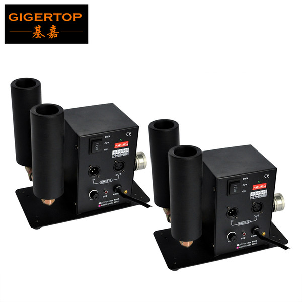 best selling TIPTOP 2pcs lot Double Nozzle CO2 Jet Machine LED Stage CO2 Jet DMX High Quality 90V 240V Fogger - Smoke - Gun -