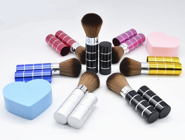 Retractable Makeup Brushes Professional Makeup Tools Face Powder Blusher Foundation Make Up Brushes Cosmetic Tools 6 Colors