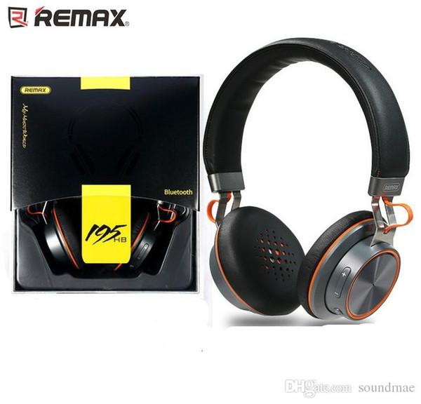 Remax RB 195HB Bluetooth Kulaklık Üzerinde Kulak DJ Kulaklık Kablosuz HIFI XBS BASS Düşük Gürültü iPhone 7 Artı Samsung Perakende Kutusu Ile