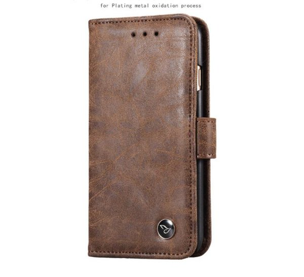 Luxury Leather case For iphone X 8 7 6s plus Samsung note 8 S8 S7 edge Flip Wallet Stand Cover book style