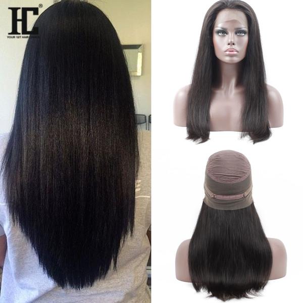 Human Hair 360 Lace Front Wigs 100 Brazilian Virgin Hair 360 Lace