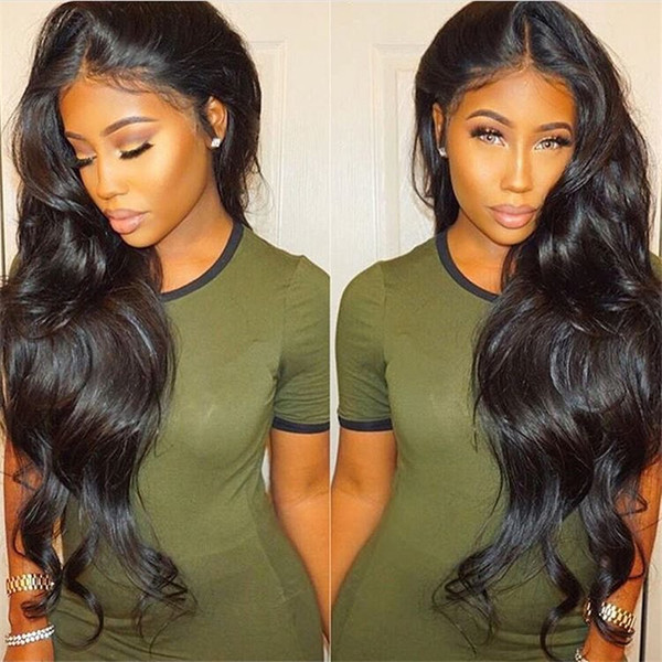 Soft Feel Brazilian Body Wave Hair Glueless Pre Plucked Full Lace Wigs With Baby Hair Non-remy 100% Human Hair 10-26 Inch