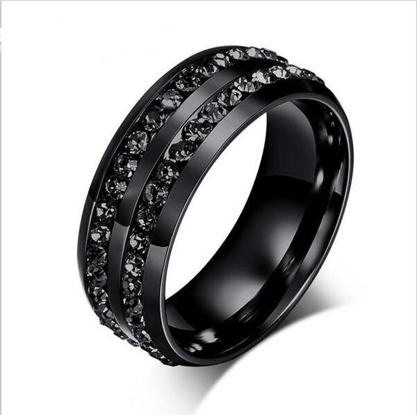 bague homme anneau noir
