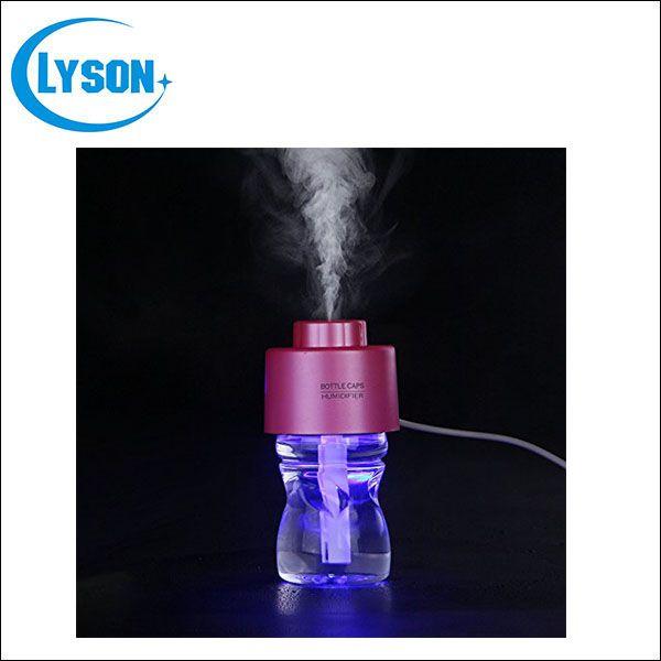 LED Night Light Bottle Cap USB Mini Humidifier DC 5V Office Cool Mist Diffuser Mist Maker Include Water Bottle