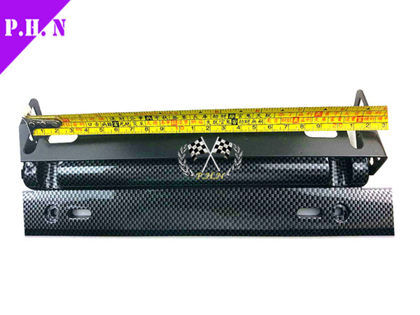 free shipping universal carbon fiber style adjustable number plate car license plate frame racing license plate