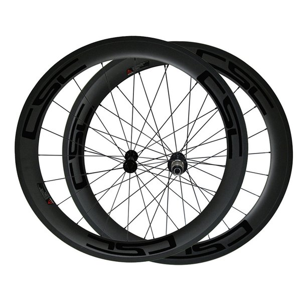 700c 60mm 3k Superlight Carbon Clincher Road Bike Wheelset Cycling Racing Wheels 20/24h Powerway R13 Hub Road Bicycle Wheelset with Decal