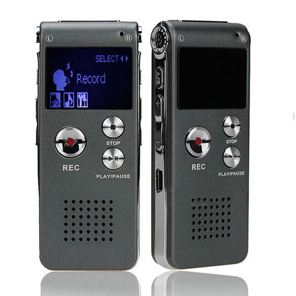 Wholesale-New Professional 8GB Digital Voice Recorder USB Flash Dictaphone Mini MP3 Player Pen Drive Grabadora Hidden Voice Audio Recorder