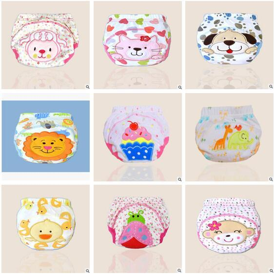 Cartoon Animal Lion Baby Diapers Washable Nappies Cloth Diaper Reusable Infants Toddler Baby Top Quality 3 Layers Cotton Diaper Nappy 658