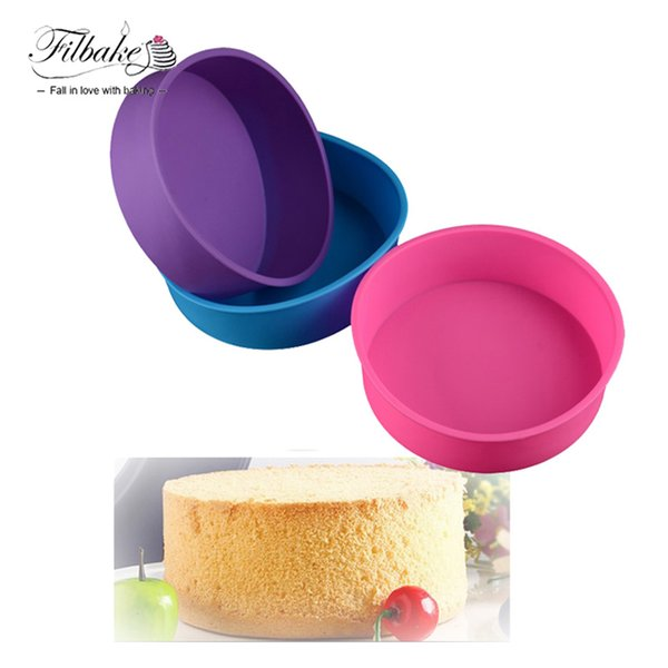 3D Silicone for Soap Cupcake Cake Mold Round Shape Cake Pan Bread Chocolate Making Mold Bakeware DIY Baking Tools Non-Stick
